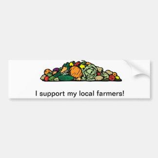 Local Farmer Bumper Sticker Car Bumper Sticker
