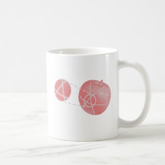 Local flatness explained with red and green apples coffee mug