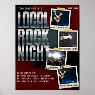 Local Rock Show   Gig   Club   Bar Flyer Poster