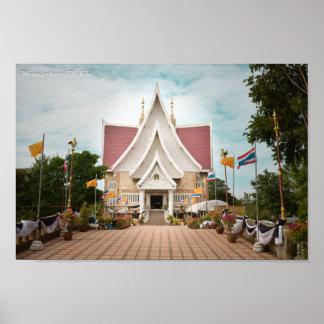 Local Thai Temple Poster