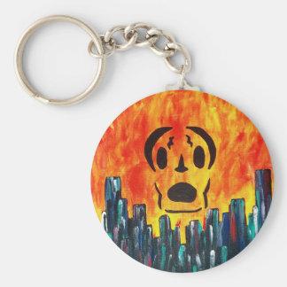 Localmusicplay.com Fire City Basic Round Button Key Ring