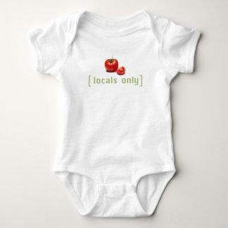 Locals Only - Funny Vegetable Vegan Tomato Baby Bodysuit