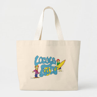 LOCALS RULE SURF SURFING SKATEBOARD GRAFFITI TOTE BAG