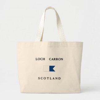 Loch Carron Scotland Alpha Dive Flag Tote Bag