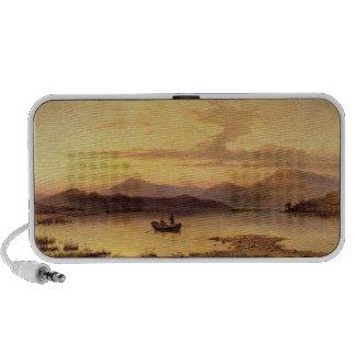 Loch Etive, from Bonawe - Evening, 1875 (oil on ca Notebook Speakers