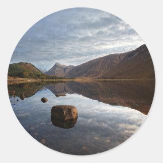 Loch Etive. Glencoe in the scottish Highlands Classic Round Sticker