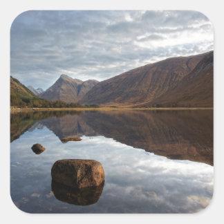 Loch Etive. Glencoe in the scottish Highlands Square Sticker
