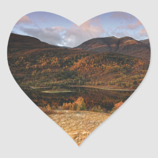 Loch Leven, Glencoe, Scotland Heart Sticker