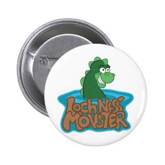 Loch Ness Monster Cartoon 6 Cm Round Badge