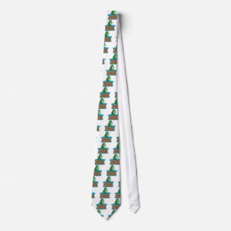 Loch Ness Monster Cartoon Tie