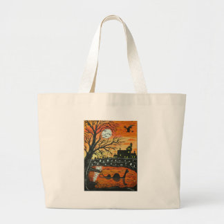 Loch Ness Monster This Halloween Large Tote Bag