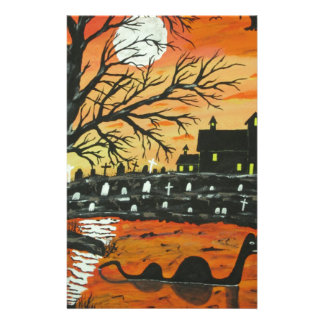 Loch Ness Monster This Halloween Personalized Stationery