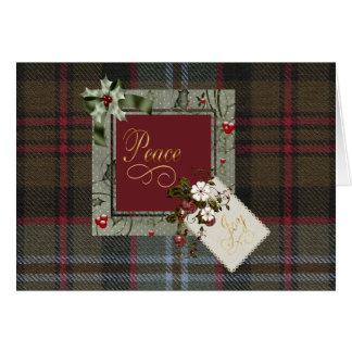 Lochaber Tartan Christmas Peace Card