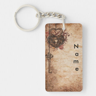 Lock and Key Double Sided Keychain
