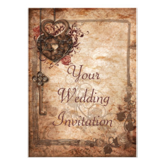 Lock and Key Wedding Invitation