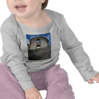 Lock ruin borrowing cross-beam t-shirts