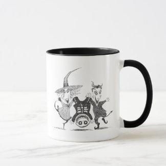 Lock, Shock, and Barrel - Black and White Mug
