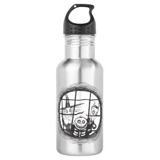 Lock, Shock, and Barrel - Looking out Window 532 Ml Water Bottle