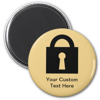 Lock. Top Secret or Confidential Icon. Magnets