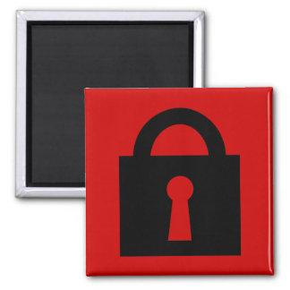 Lock. Top Secret or Confidential Icon. Square Magnet