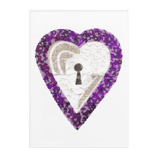 Locker Heart Acrylic Poster Acrylic Wall Art