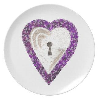 Locker Heart Melamine Plate