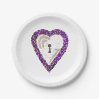 Locker Heart Paper Plate