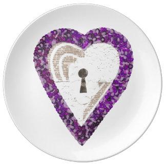 Locker Heart Porcelain Plate
