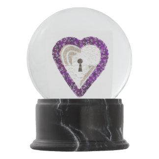Locker Heart Snowglobe