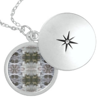 Lockets with Frosted Abstract Design