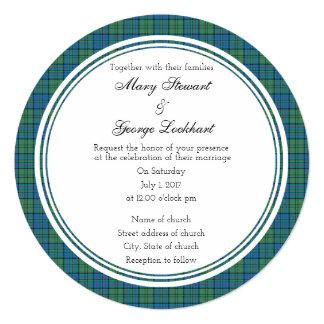 Lockhart Scottish Wedding Round Invitation