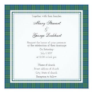 Lockhart Scottish Wedding Square Invitation