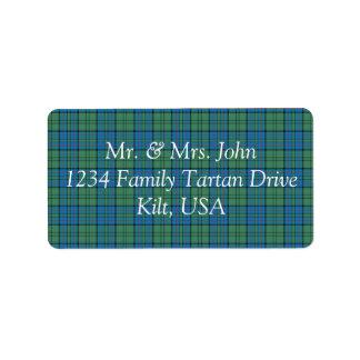 Lockhart Tartan Label