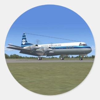 Lockheed Electra Airliner Round Sticker
