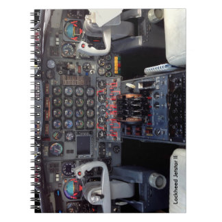 Lockheed Jetstar Instrument panel Spiral Note Books