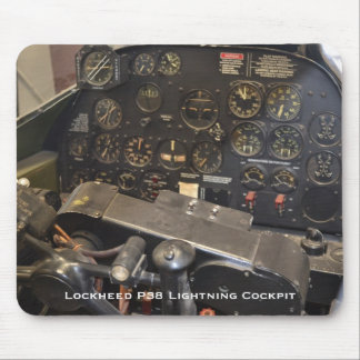 Lockheed P38 Lightning Cockpit Mouse Pad
