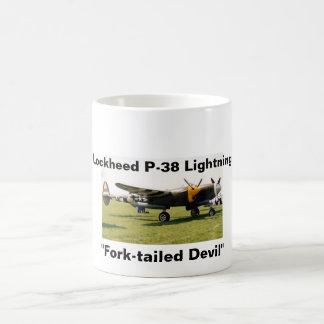 Lockheed P-38 Lightning Classic White Coffee Mug