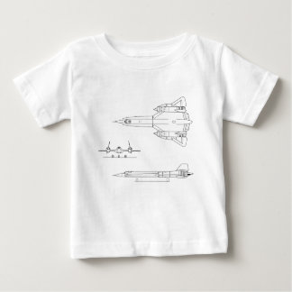 Lockheed_YF-12A_3view Baby T-Shirt