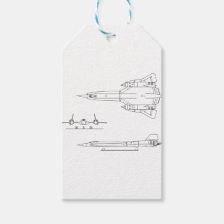 Lockheed_YF-12A_3view Gift Tags