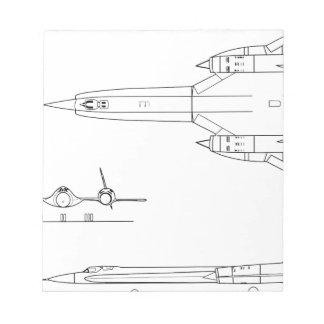 Lockheed_YF-12A_3view Notepad