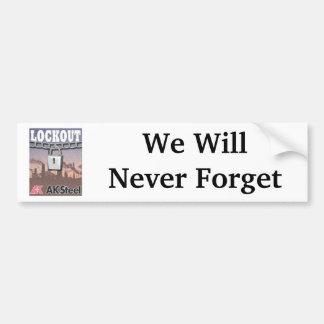 Lockout, We WillNever Forget Bumper Sticker