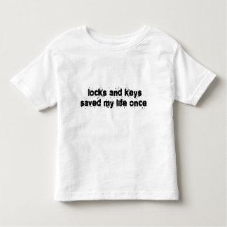 Locks and Keys Saved My Life Once Toddler T-Shirt