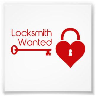 Locksmith Wanted Valentine's Day Heart Lock Photo