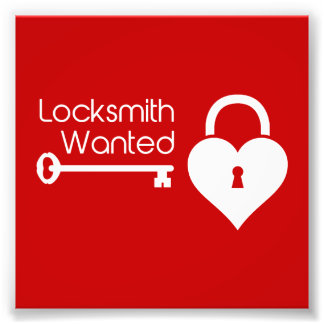 Locksmith Wanted Valentine's Day Heart Lock Photo Art