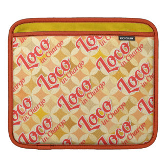 Loco in Chargo Bold Pattern Background iPad Sleeve