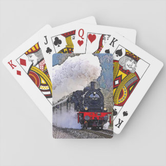 Locomotive 2. Steam in the Snow. Playing Cards