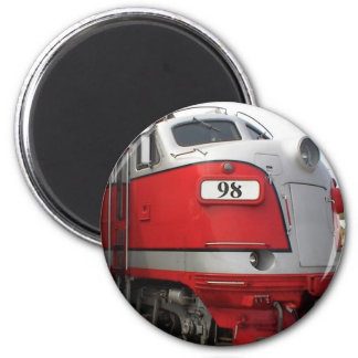 Locomotive 6 Cm Round Magnet