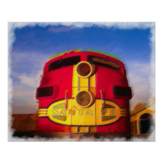Locomotive Coming Right at You Poster