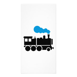Locomotive Custom Photo Card