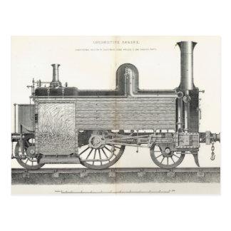 Locomotive Engine, engraved by J.W. Lowry Postcard